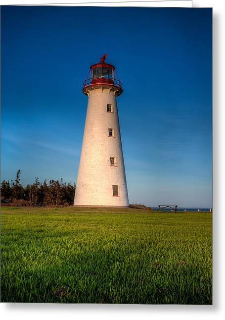 Point Prim Lighthouse Greeting Card by Matt Dobson