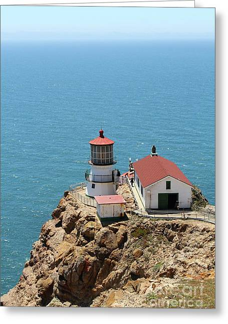 Pt Reyes Greeting Cards - Point Reyes Lighthouse in California 7D15989 Greeting Card by Wingsdomain Art and Photography