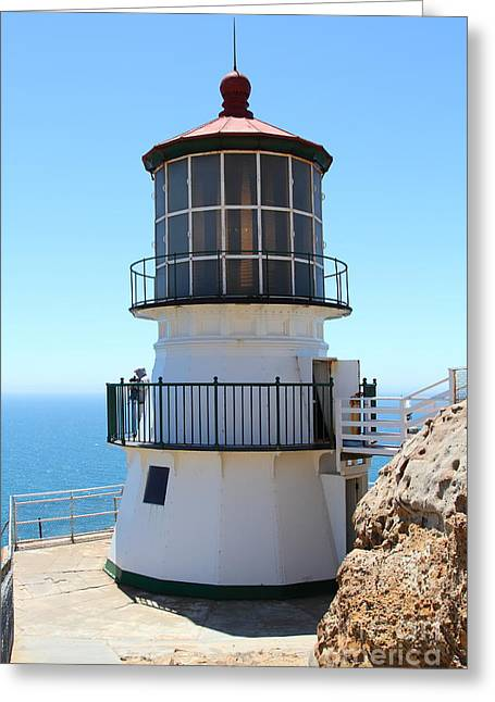 Pt Reyes Greeting Cards - Point Reyes Lighthouse in California 7D16008 Greeting Card by Wingsdomain Art and Photography