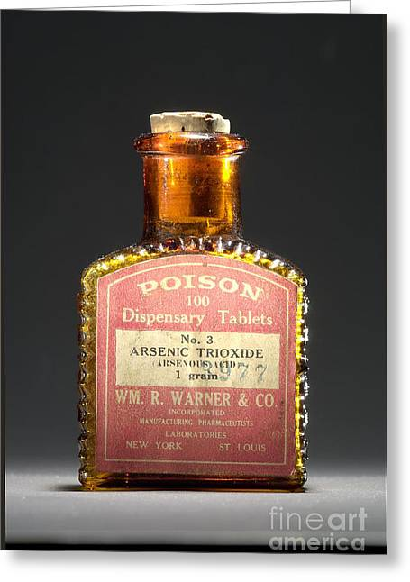 Tablets Of Law Greeting Cards - Poison, Circa 1900 Greeting Card by Science Source