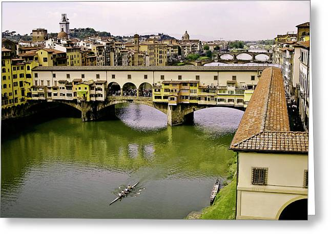 Uffizi Greeting Cards - Ponte Vecchio Florence Italy Greeting Card by Forest Alan Lee