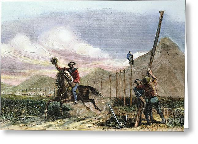 Express Greeting Cards - Pony Express, 1867 Greeting Card by Granger