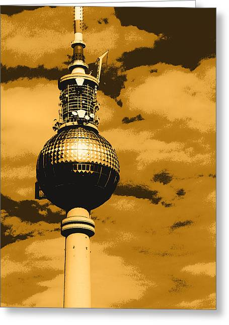 Berlin Mixed Media Greeting Cards - Pop Art Berlin Greeting Card by Falko Follert