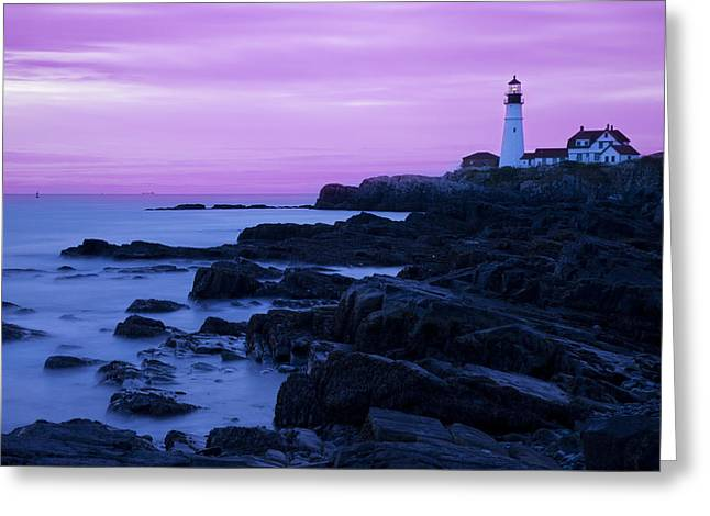Portland Head Light Greeting Cards - Portland Head Lighthouse Greeting Card by Brian Jannsen