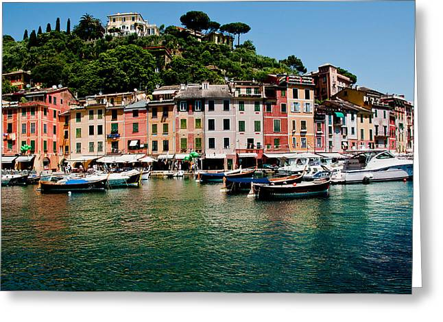 Portofino Italy Art Greeting Cards - Portofino Italy Greeting Card by Xavier Cardell