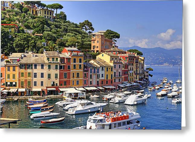 Meeting Photographs Greeting Cards - Portofino Greeting Card by Joana Kruse