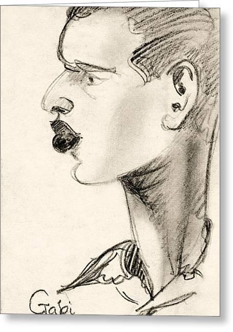 Portrait Greeting Card by Odon Czintos