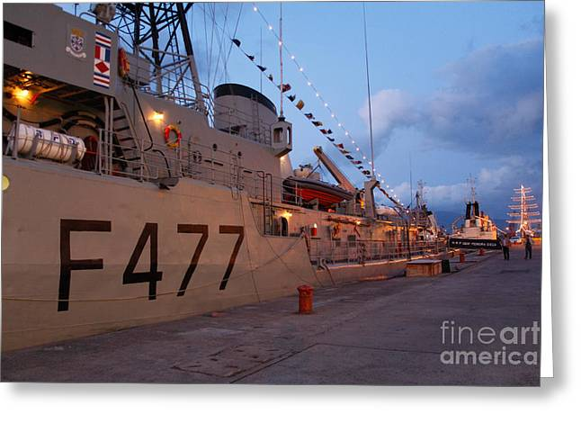 F477 Greeting Cards - Portuguese Navy frigates Greeting Card by Gaspar Avila