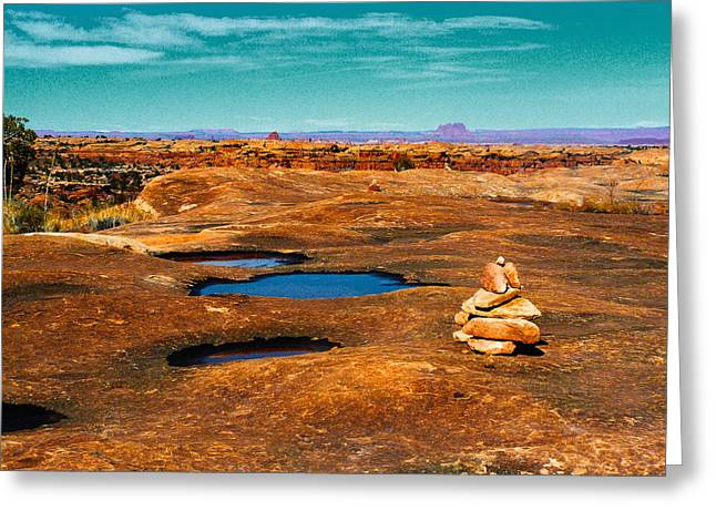 Pothole Point Greeting Card by Sean  Eckel