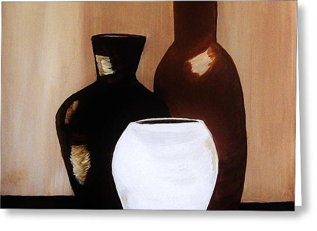Pottery from Portugal  Greeting Card by Marsha Heiken