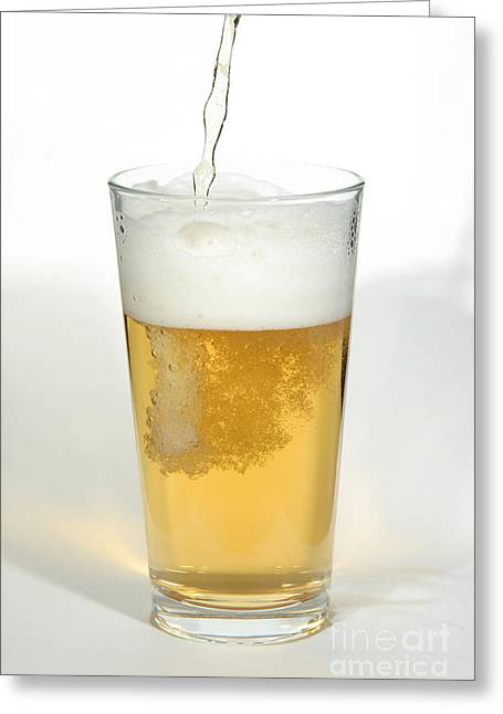 Pouring Greeting Cards - Pouring Beer Greeting Card by Ted Kinsman