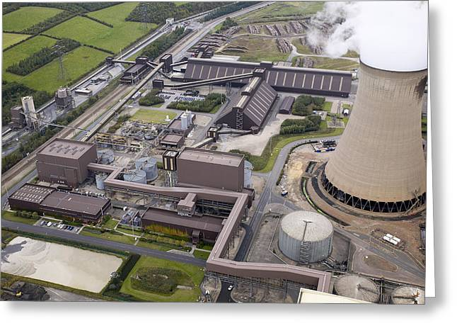 Most Photographs Greeting Cards - Power Station Buildings Greeting Card by Colin Cuthbert