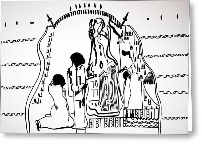 Presentation Of Jesus In The Temple Greeting Card by Gloria Ssali