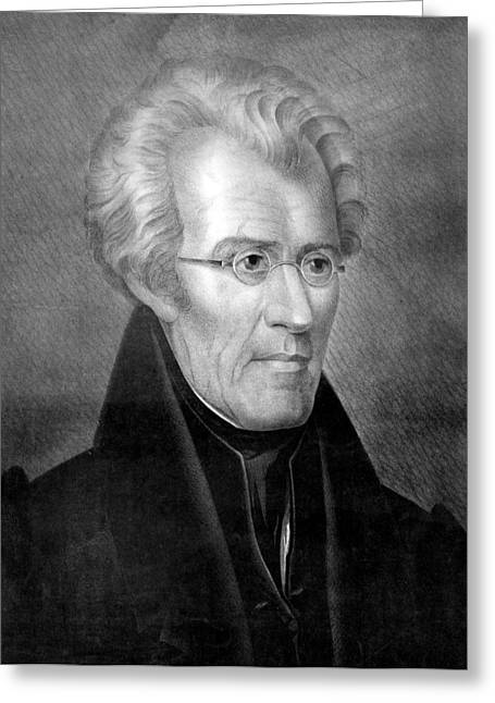 American Politician Greeting Cards - President Andrew Jackson Greeting Card by International  Images