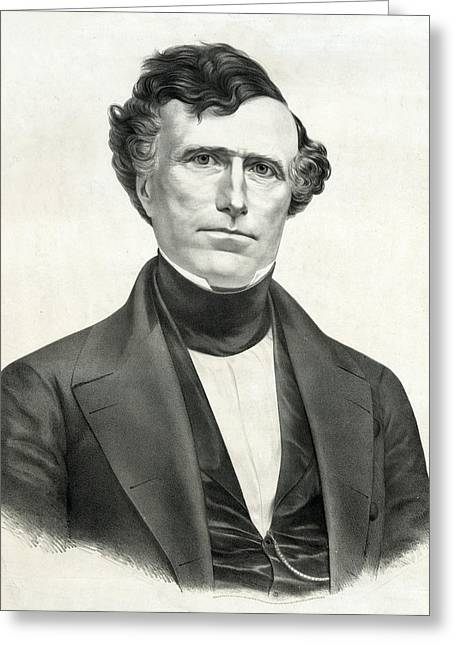 American Politician Greeting Cards - President Franklin Pierce Greeting Card by International  Images