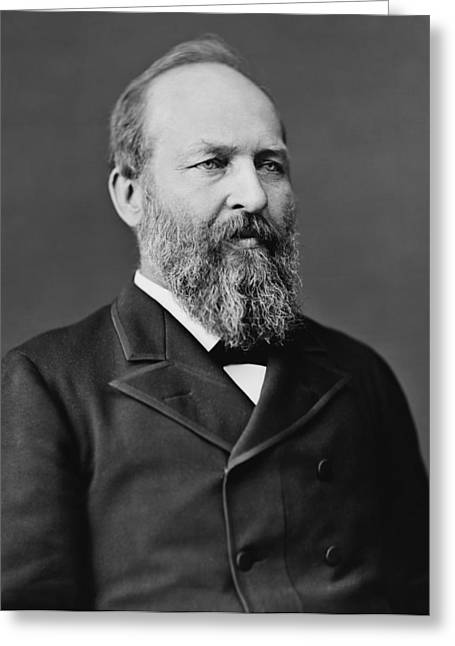 James Garfield Greeting Cards - President James Garfield Greeting Card by War Is Hell Store