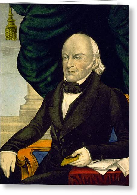 President Adams Greeting Cards - President John Quincy Adams Greeting Card by International  Images