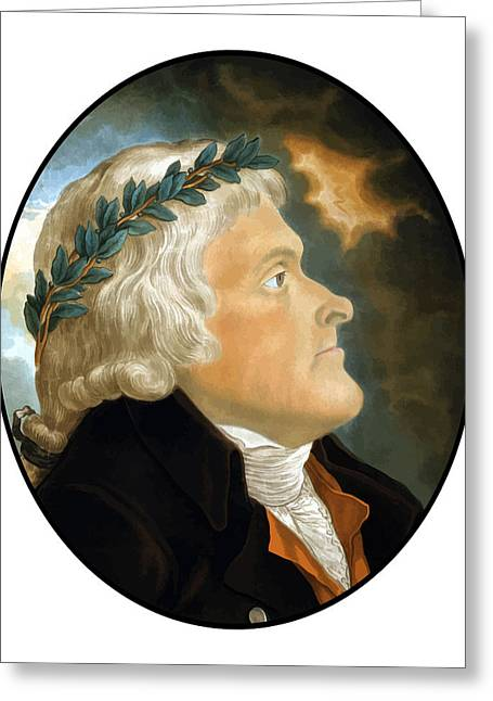 President Of America Greeting Cards - President Thomas Jefferson Greeting Card by War Is Hell Store