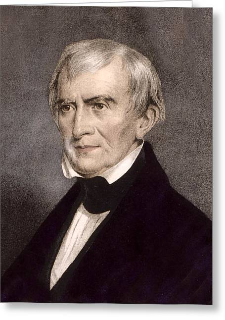 American Politician Greeting Cards - President William Henry Harrison Greeting Card by International  Images