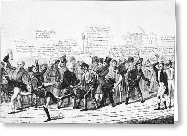 Footrace Greeting Cards - Presidential Campaign, 1824 Greeting Card by Granger
