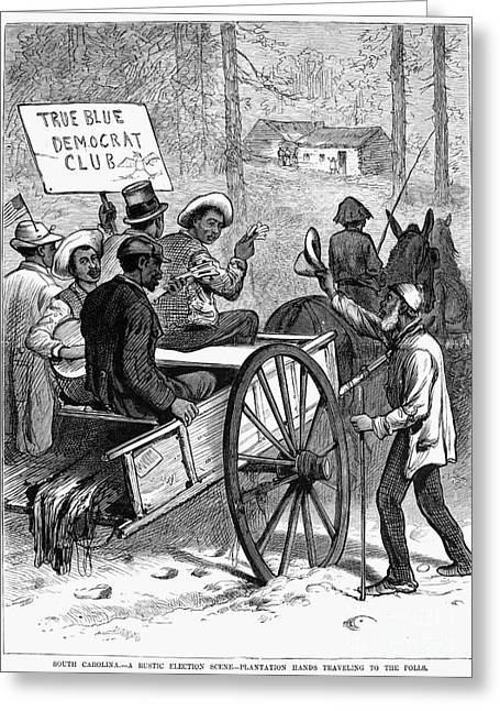Voting Rights Greeting Cards - Presidential Campaign, 1876 Greeting Card by Granger