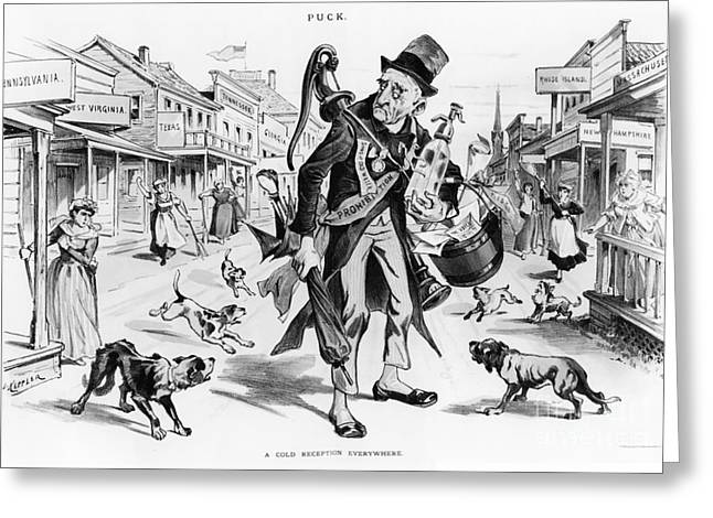 Political Cartoon Greeting Cards - Prohibition-era Cartoon Greeting Card by Photo Researchers