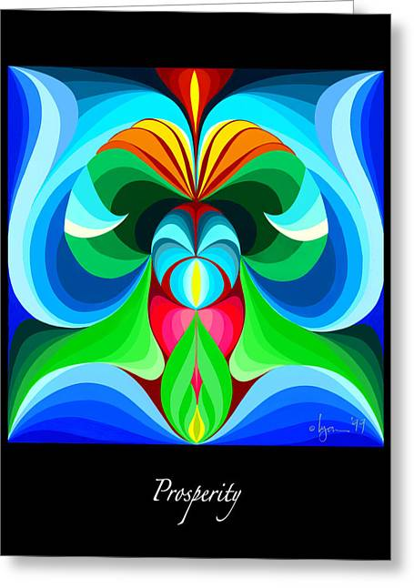 Survivor Art Greeting Cards - Prosperity Greeting Card by Angela Treat Lyon