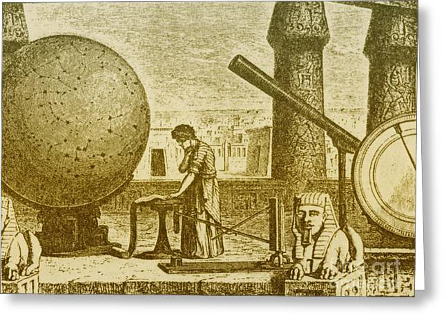 Claudius Greeting Cards - Ptolemy, Alexandria Observatory, 2nd Greeting Card by Science Source