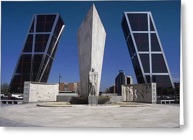 Right Wing Greeting Cards - Puerta De Europa Greeting Card by Carlos Dominguez