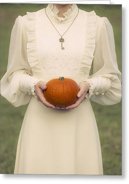 Period Photographs Greeting Cards - Pumpkin Greeting Card by Joana Kruse