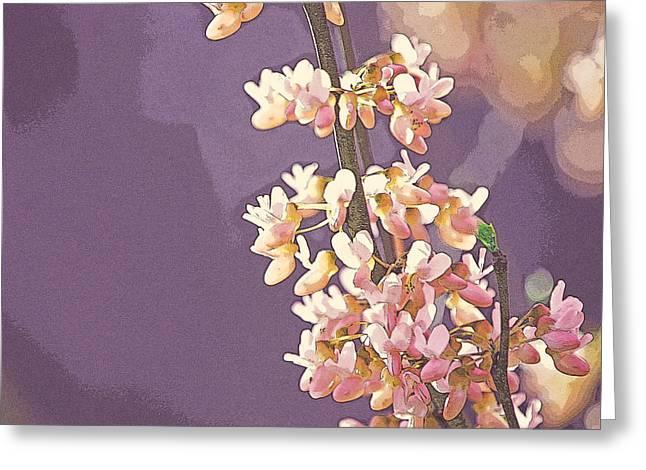 Flower Blossom Greeting Cards - Purple Haze Greeting Card by Robin Blankenship