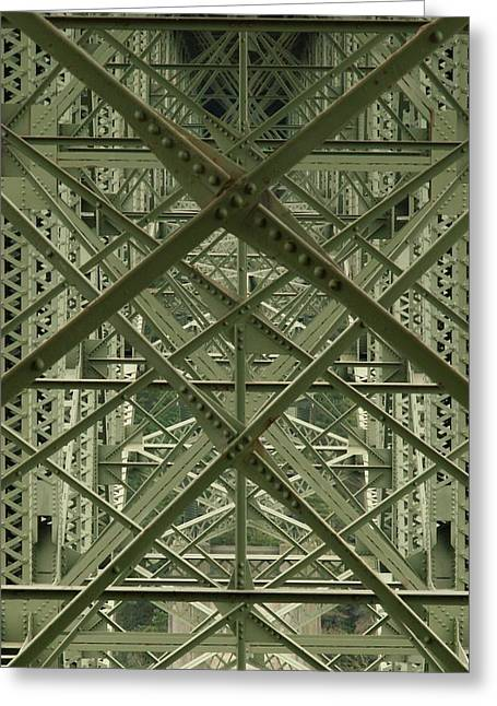 West Fork Greeting Cards - Puzzled Bridge Greeting Card by Jim Moore