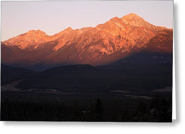 Pyramid Mountain Greeting Cards - Pyramid Mountain Jasper National Park Greeting Card by Pierre Leclerc Photography