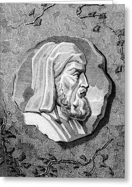 Pythagoras Greeting Cards - Pythagoras, Ancient Greek Philosopher Greeting Card by