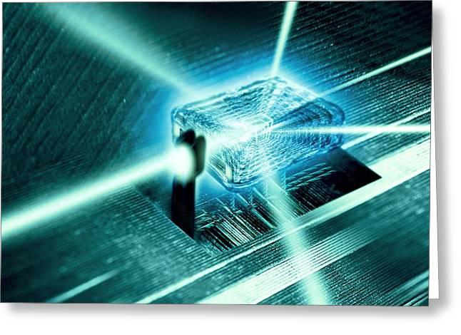 Quantum Mechanics Greeting Cards - Quantum Computer Core Greeting Card by Richard Kail