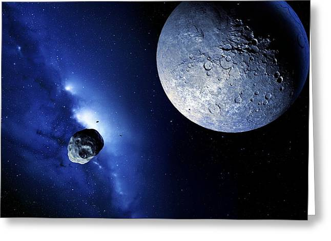 Physical Body Greeting Cards - Quaoar In The Kuiper Belt Greeting Card by Detlev Van Ravenswaay