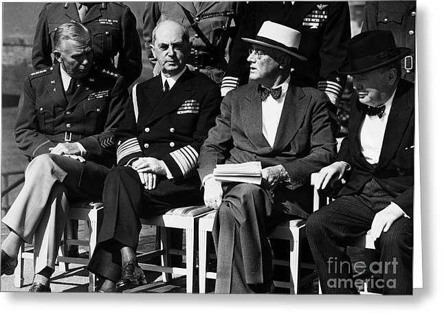 Quebec Conference Greeting Cards - Quebec Conference, 1944 Greeting Card by Granger