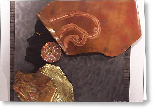 Stainless Steel Reliefs Greeting Cards - Queen Greeting Card by Jeff  Williams