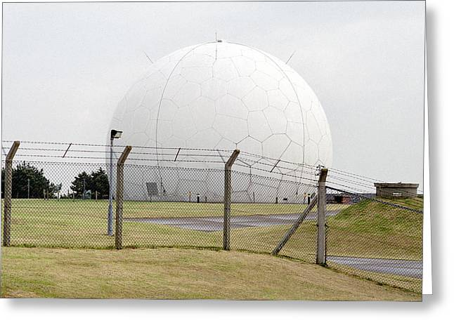 Tracker Greeting Cards - Radar Tracking Station Greeting Card by Victor De Schwanberg