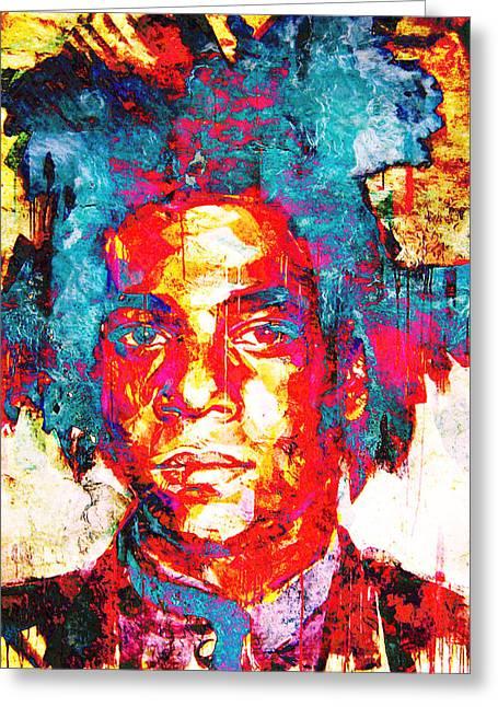 Basquiat Greeting Cards - Radiant Child Greeting Card by Jose Espinoza