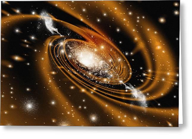 Ejected Greeting Cards - Radio Galaxy, Computer Artwork Greeting Card by Mehau Kulyk