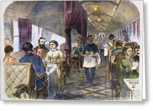 Apron Greeting Cards - Railroad: Interior, 1869 Greeting Card by Granger