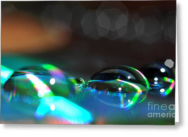 Arc-en-ciel Greeting Cards - Rainbow Drops Greeting Card by Sylvie Leandre