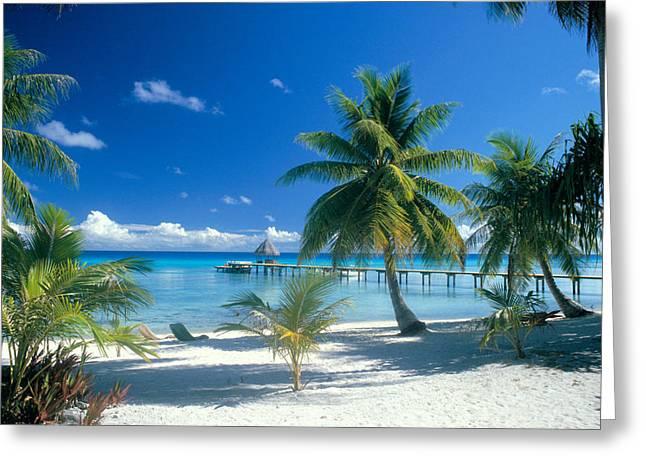 Kia Greeting Cards - Rangiroa Atoll, Kia Ora Greeting Card by Peter Stone - Printscapes