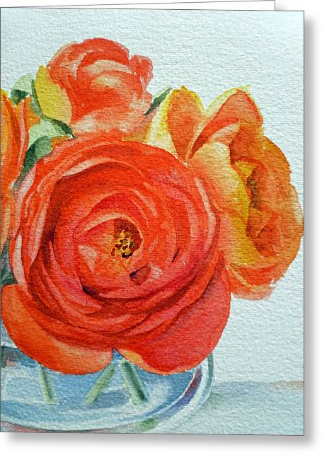 Ranunculus Greeting Cards - Ranunculus Greeting Card by Irina Sztukowski
