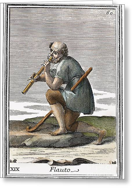 Recorder, 1723 Greeting Card by Granger