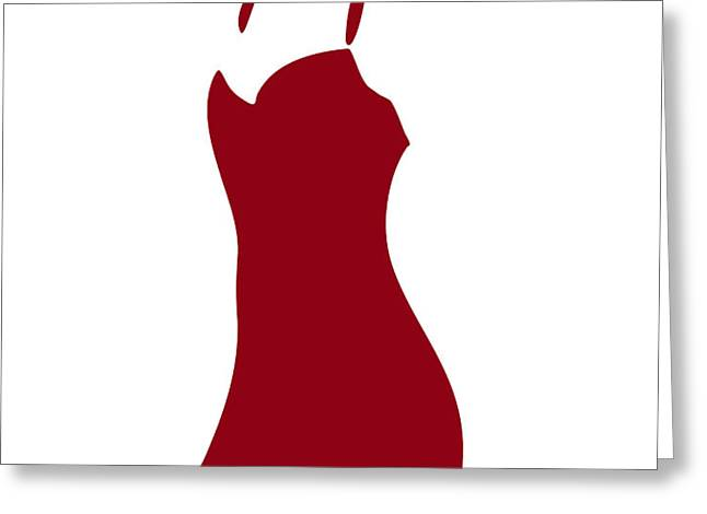 Red Dress Greeting Card by Frank Tschakert