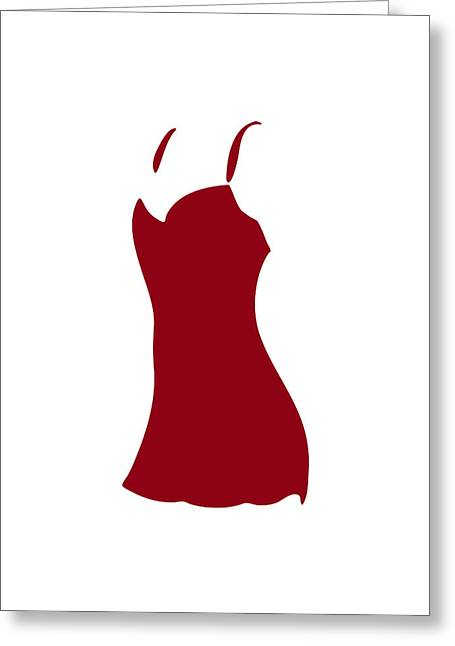 Lifestyle Drawings Greeting Cards - Red Dress Greeting Card by Frank Tschakert