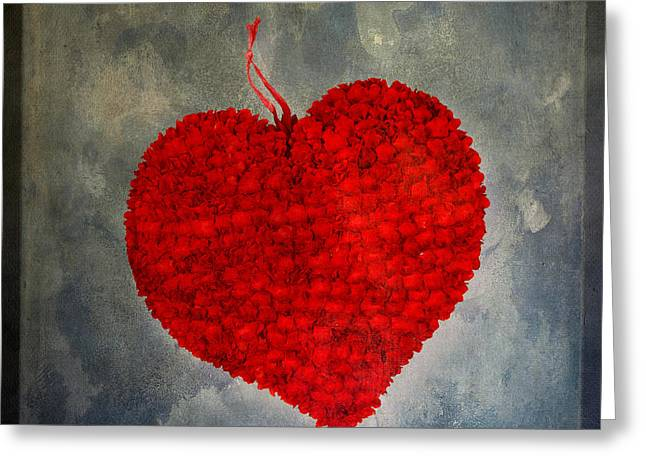 Red heart Greeting Card by BERNARD JAUBERT