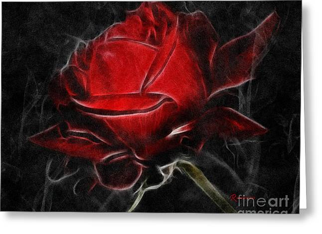 Zeana Romanovna Digital Greeting Cards - Red Hot Greeting Card by Zeana Romanovna